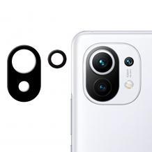 Удароустойчив протектор за камера / FLEXIBLE Nano Glass Camera Lens / на Xiaomi Mi 11 - черен
