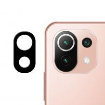 Удароустойчив протектор за камера / FLEXIBLE Nano Glass Camera Lens / на Xiaomi Mi 11 Lite - черен