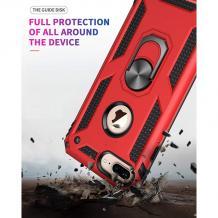Силиконов гръб Spigen със стойка и магнитно захващане за Apple iPhone 7 / iPhone 8 - червен