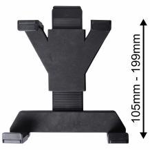 Универсална стойка за кола / Car Holder / за GPS устройства, мобилен телефон или таблет от 7'' инча до 14'' инча - въртяща се на 360 градуса / черна