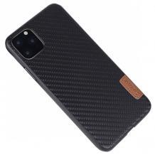 Луксозен силиконов калъф / гръб / TPU G-Case Dark Series за Apple iPhone 12 /12 Pro 6.1'' - черен / Carbon