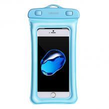 Универсален водоустойчив калъф / Waterproof Usams за мобилен телефон - светло син 6.0 inch