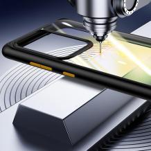 Луксозен гръб USAMS Janz Series за Samsung Galaxy S20 Ultra - прозрачен / черен кант