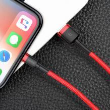 Оригинален USB кабел BASEUS Cafule Cable Lightning за зареждане и пренос на данни - червен