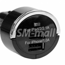 USB зарядно за кола / автомобил / - двойно 3.1А за iPad, iPhone, Samsung, HTC, LG, Huavei, Nokia, ZTE , Nokia , Alcatel , Caterpillar , BlackBerry , Sony Xperia