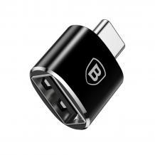 Оригинален преходник Baseus 2.4A OTG /адаптер/ от USB към Type-C - черен