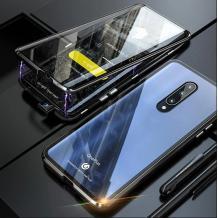 Магнитен калъф Bumper Case 360° FULL за Xiaomi Mi 9T - прозрачен / черна рамка