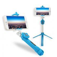 Селфи Стик Tripod със Bluetooth / Bluetooth Tripod Selfie Stick - син