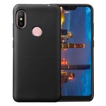 Силиконов калъф / гръб / TPU за Xiaomi Redmi Note 6 / Note 6 Pro - черен / carbon