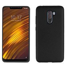 Силиконов калъф / гръб / TPU за Xiaomi Pocophone F1 - черен / carbon