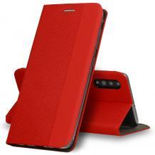 Кожен калъф Sensitive Book със стойка за Samsung Galaxy A20e - червен