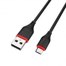 USB кабел за зареждане и пренос на данни / Micro USB кабел BOROFONE BX17 1m. FAST - черен