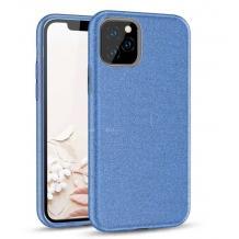 Силиконов калъф / гръб / TPU за Samsung Galaxy Note 20 Ultra - син / брокат