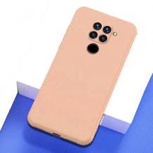 Луксозен силиконов калъф / гръб / Nano TPU за Xiaomi Redmi Note 9 - телесен