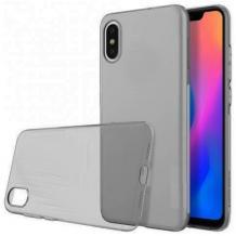 Ултра тънък силиконов калъф / гръб / TPU Ultra Thin за Samsung Galaxy A10 - сив / прозрачен