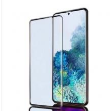 Удароустойчив протектор Full Cover / Nano Flexible Screen Protector с лепило по цялата повърхност за дисплей на Samsung Galaxy A32 4G – черен кант