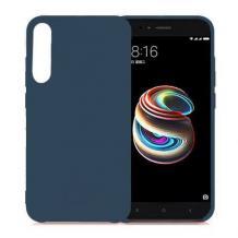 Луксозен гръб за Samsung Galaxy A7 2018 A750F - тъмно син