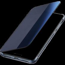 Луксозен калъф Smart View Cover за Huawei P30 Lite - тъмно син