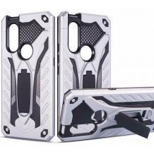 Силиконов гръб TPU Armor Kickstand Case с твърда част за Huawei P30 Lite - сребрист