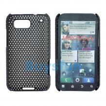 Заден предпазен капак Perforated Style за Motorola Defy черен