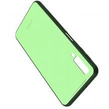 Луксозен стъклен твърд гръб за Samsung Galaxy A7 2018 A750F - светло зелен