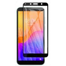 3D full cover Tempered glass Full Glue screen protector Huawei Y5p / Извит стъклен скрийн протектор с лепило от вътрешната страна за Huawei Y5p - черен