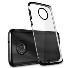 Луксозен силиконов калъф / гръб / TPU за Xiaomi Mi 10T Lite - прозрачен / черен кант