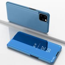 Луксозен калъф Clear View Cover с твърд гръб за Apple iPhone 11 Pro Max 6.5'' - син