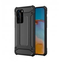 Силиконов гръб TPU Spigen Hybrid с твърда част за Samsung Galaxy S10 Lite / A91 – черен