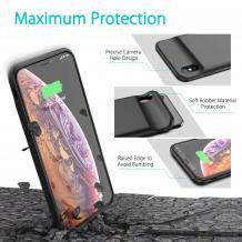 Луксозен твърд гръб / външна батерия / Battery Power Bank за Apple iPhone XS Max - черен / 4000mAh