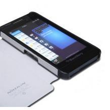 Луксозен кожен калъф Flip тефтер Nillkin за BlackBerry Z10 - черен