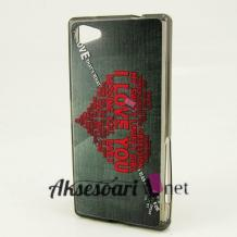 Силиконов калъф / гръб / TPU за Lenovo Vibe Shot Z90 - сив / червено сърце / Love You