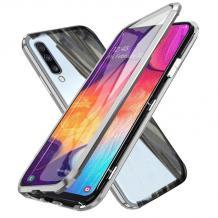 Магнитен калъф Bumper Case 360° FULL за Samsung Galaxy A50 / A50S / A30S - прозрачен / сребриста рамка