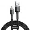 Оригинален USB кабел BASEUS Cafule Cable Micro USB за зареждане и пренос на данни - черен със сребристо