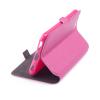 Кожен калъф Flip тефтер Flexi със стойка за Alcatel 3X 2020 - розов