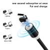 3 В 1 Магнитен кабел KLGO за зареждане с 3 накрайника Lightning, micro USB И Type C - черен