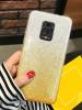 Силиконов калъф / гръб / TPU за Xiaomi Redmi Note 9S / Note 9 Pro - преливащ / сребристо и златисто / брокат